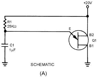 Figure 3-44A Unijunction sawtooth generator  SCHEMATIC